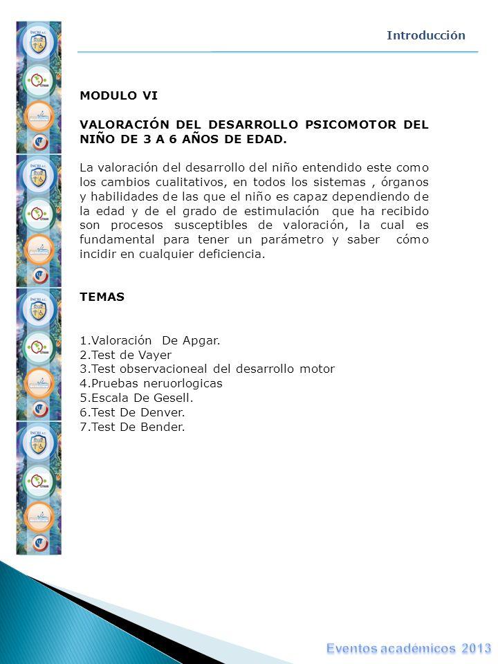 Eventos académicos 2013 MODULO VI