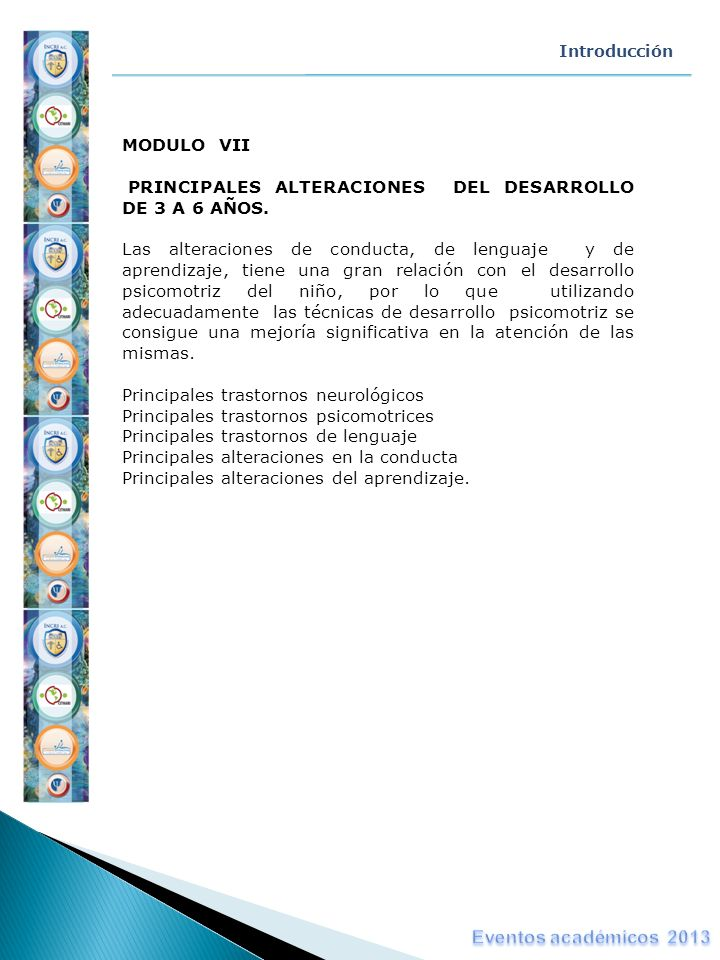 Eventos académicos 2013 MODULO VII