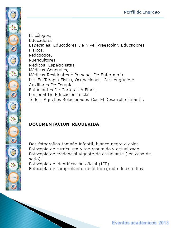 Eventos académicos 2013 Psicólogos, Educadores
