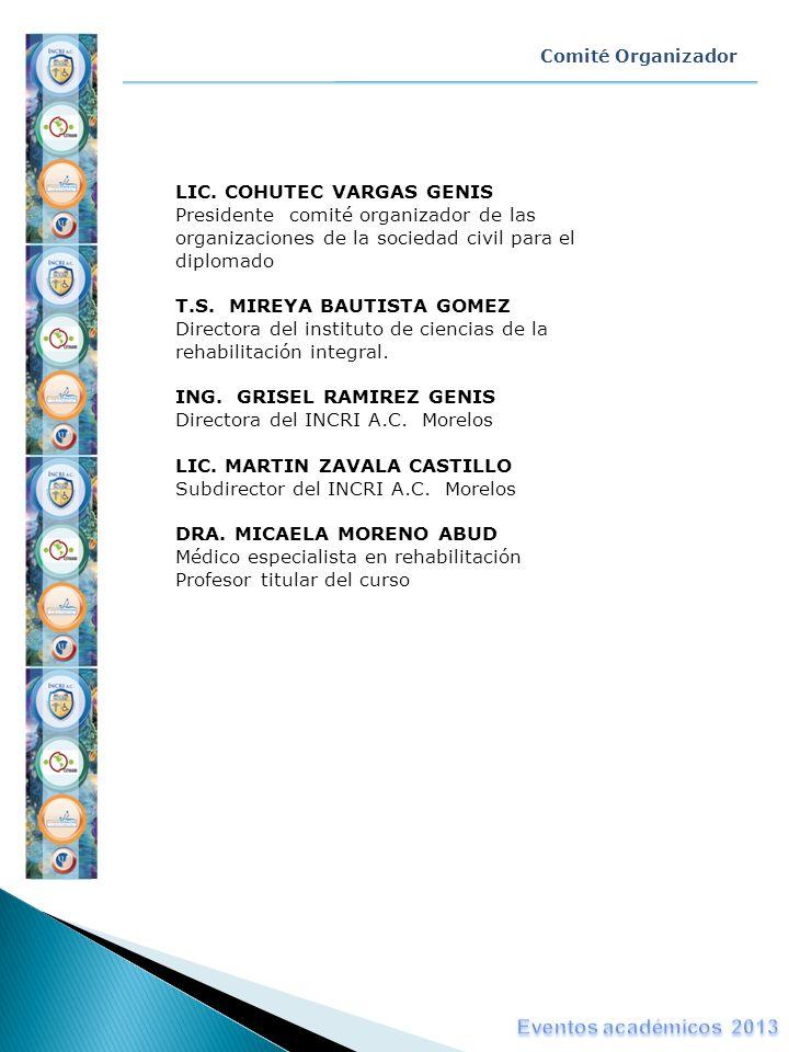 Eventos académicos 2013 LIC. COHUTEC VARGAS GENIS