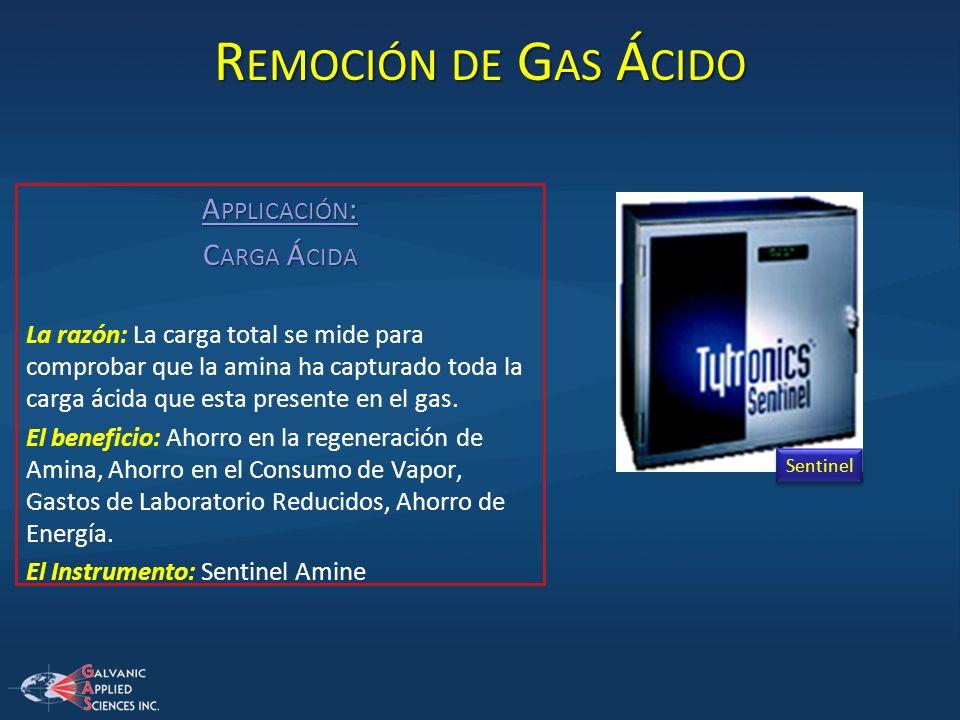 Remoción de Gas Ácido Applicación: Carga Ácida