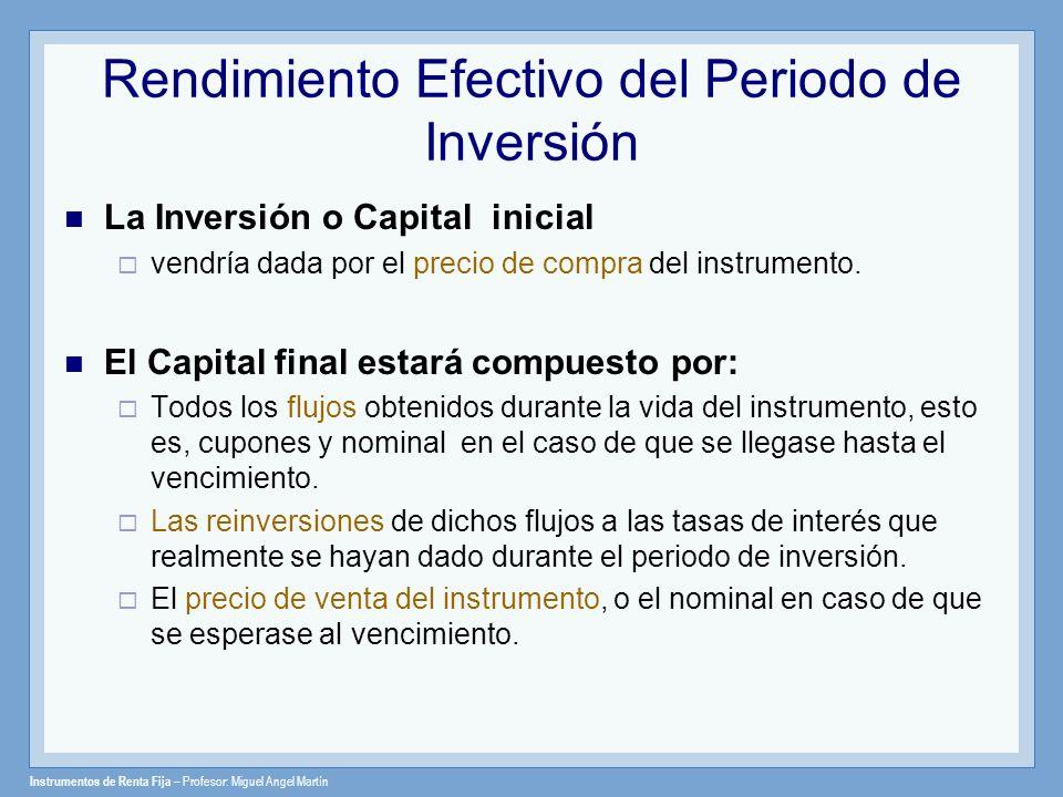 Rendimiento Efectivo del Periodo de Inversión