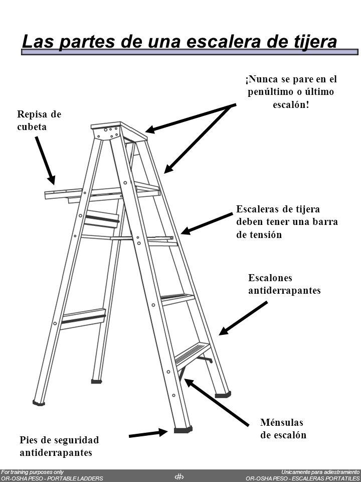DatosLa mayoría de trabajadores lesionados en caídas desde escaleras están a menos de 10 pies arriba de la base de la escalera.