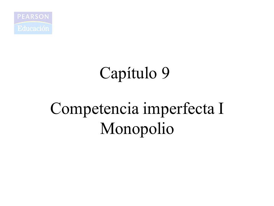 Competencia imperfecta I Monopolio