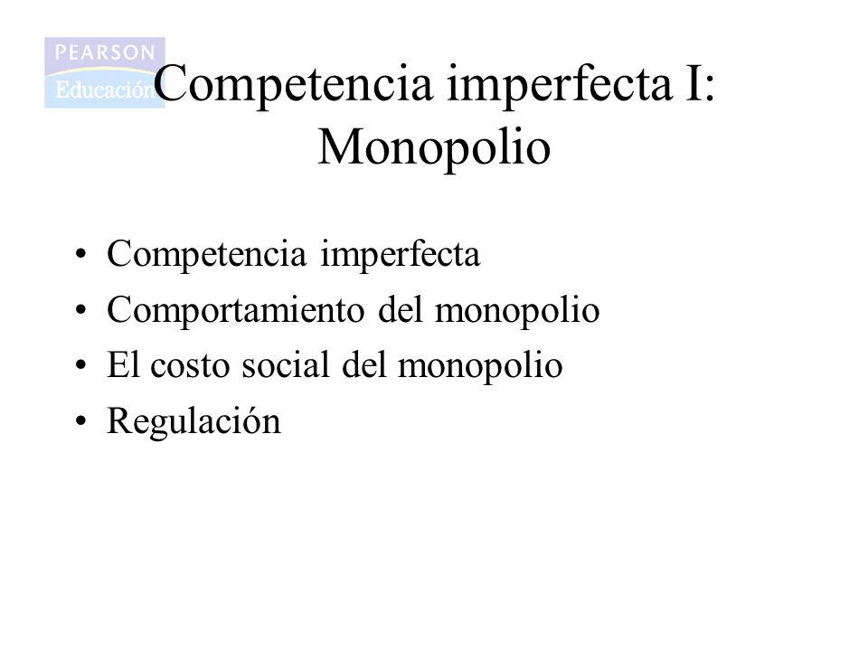 Competencia imperfecta I: Monopolio