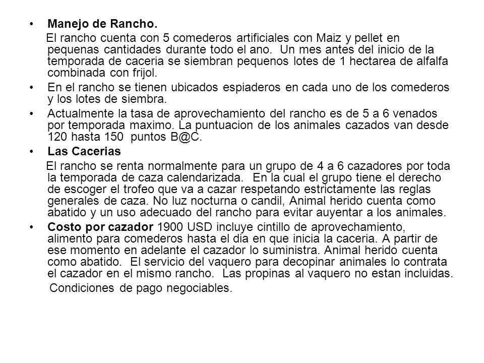 Manejo de Rancho.