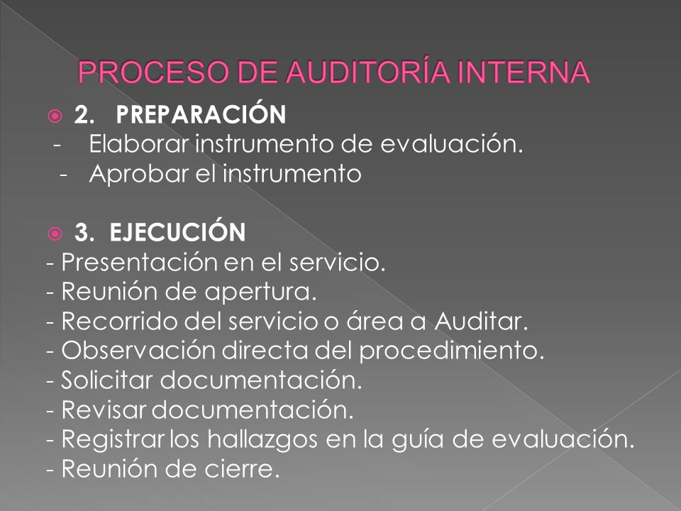 PROCESO DE AUDITORÍA INTERNA