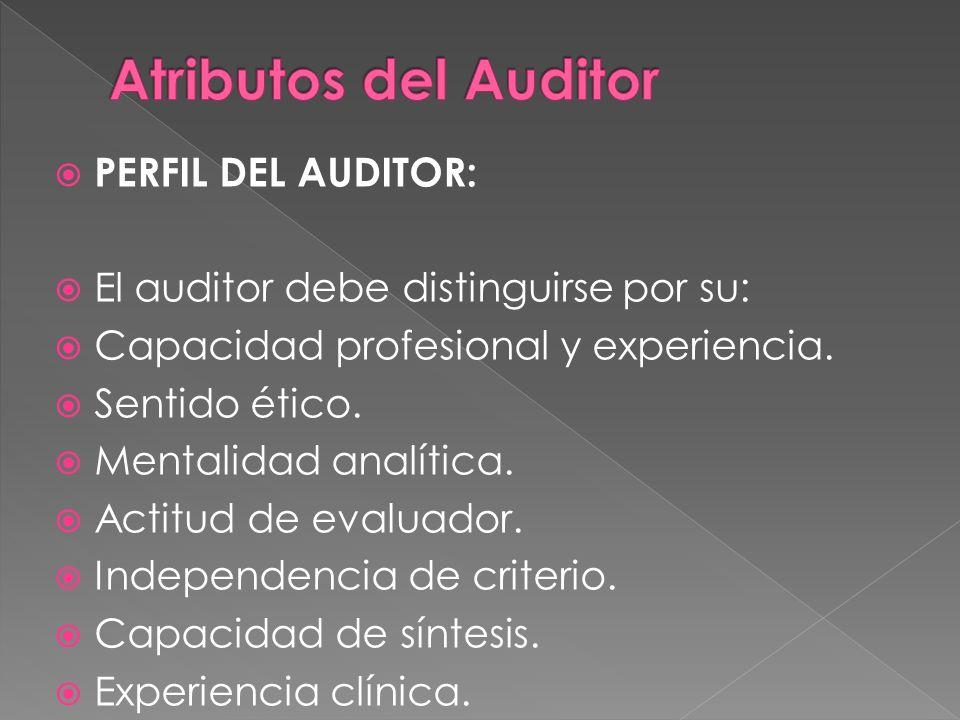 Atributos del Auditor PERFIL DEL AUDITOR: