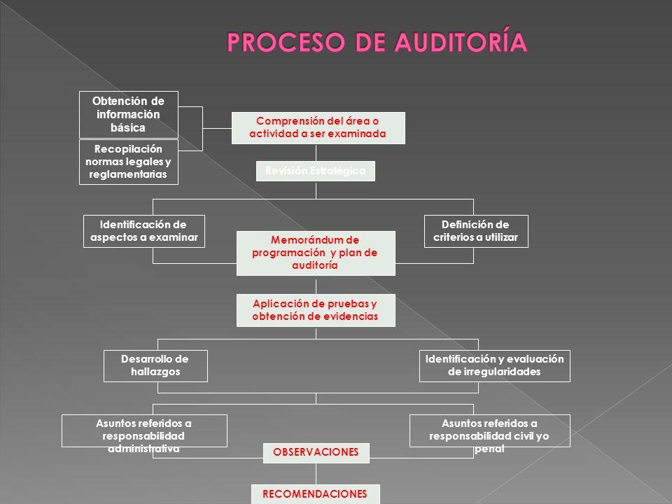PROCESO DE AUDITORÍA Obtención de información básica