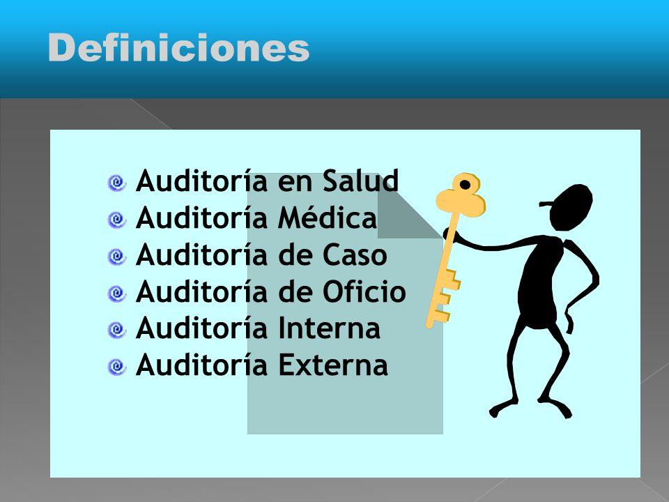 Definiciones Auditoría en Salud Auditoría Médica Auditoría de Caso