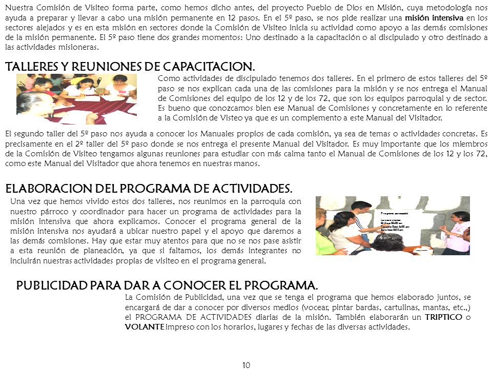 TALLERES Y REUNIONES DE CAPACITACION.