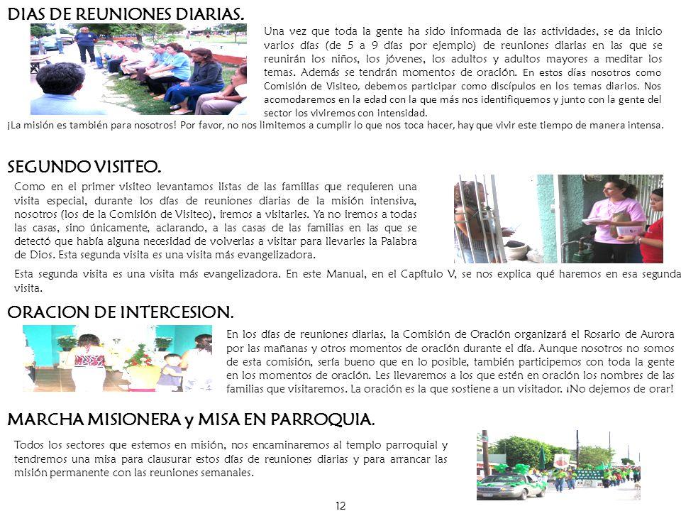 DIAS DE REUNIONES DIARIAS.