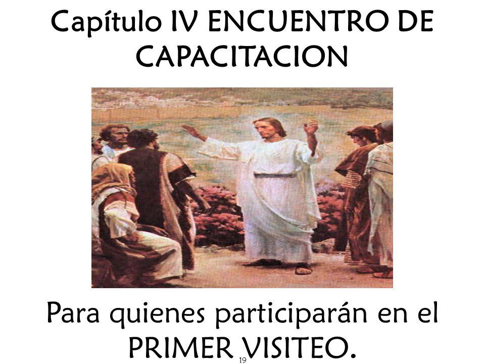 Capítulo IV ENCUENTRO DE CAPACITACION