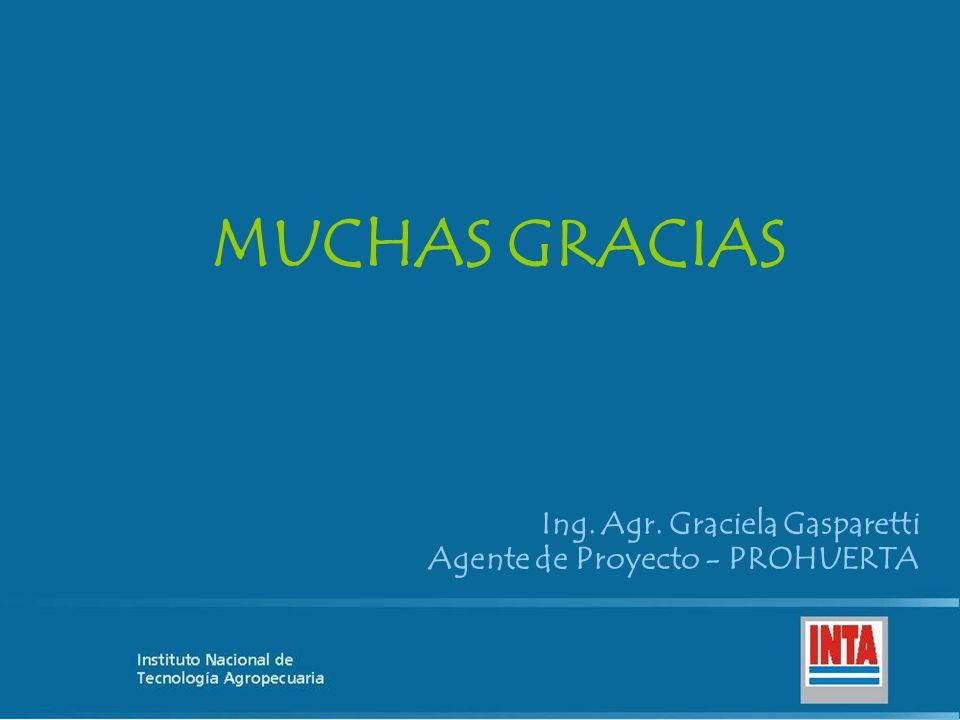 MUCHAS GRACIAS Ing. Agr. Graciela Gasparetti