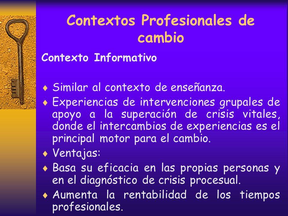 Contextos Profesionales de cambio