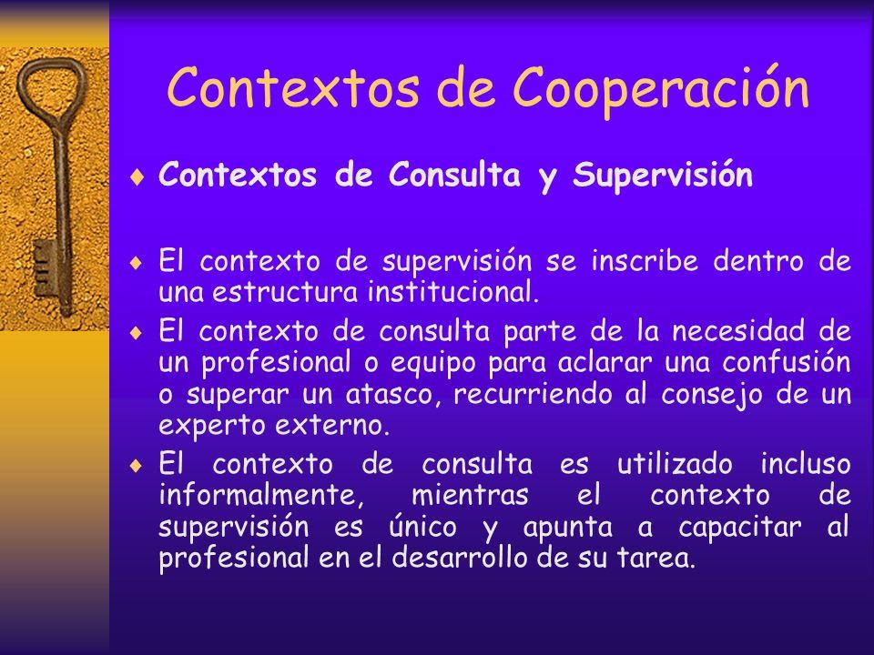 Contextos de Cooperación