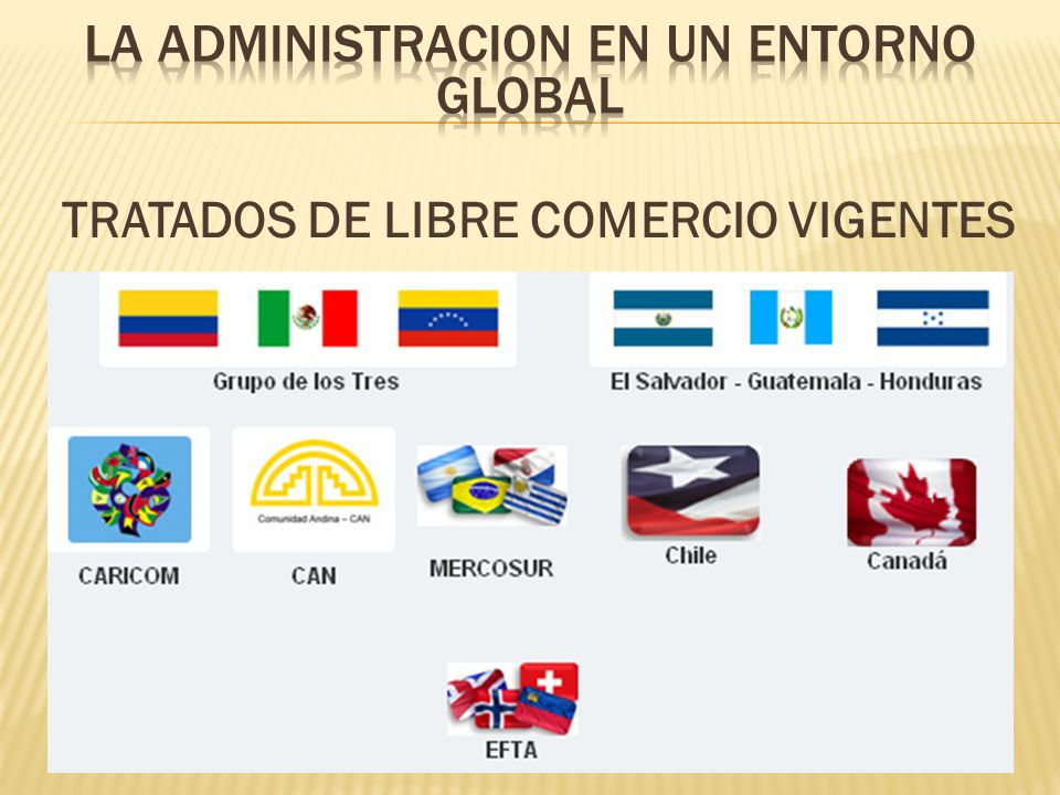 TRATADOS DE LIBRE COMERCIO VIGENTES