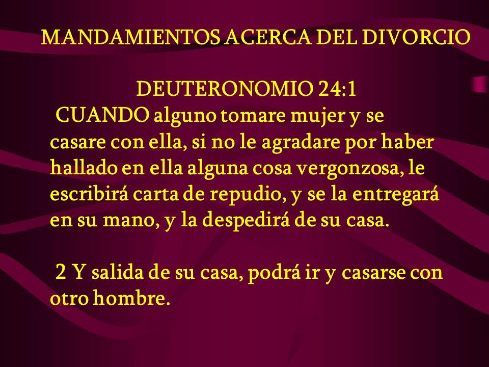 MANDAMIENTOS ACERCA DEL DIVORCIO