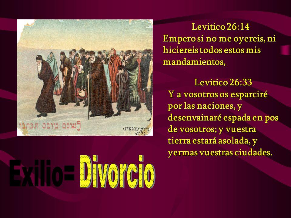 Divorcio Exilio= Levitico 26:14