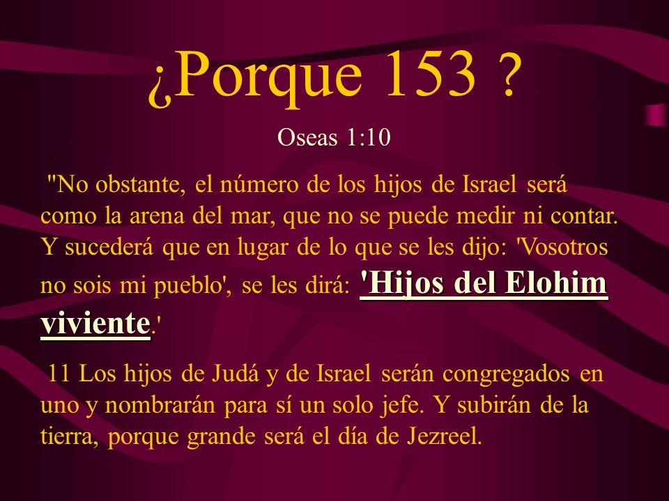 ¿Porque 153 Oseas 1:10.