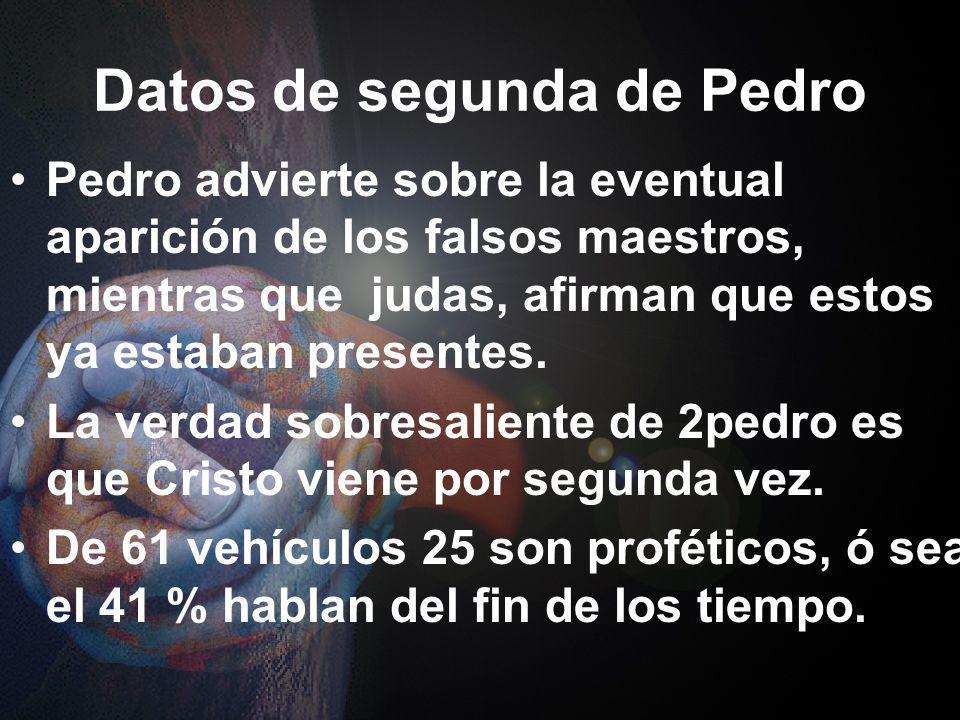 Datos de segunda de Pedro