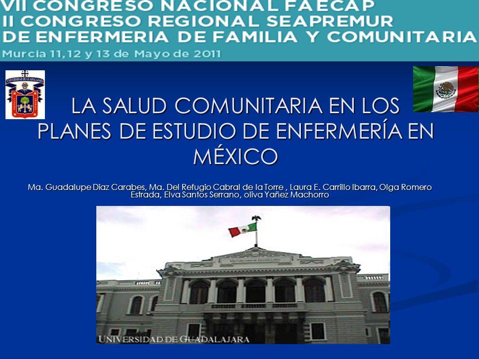 LA SALUD COMUNITARIA EN LOS PLANES DE ESTUDIO DE ENFERMERÍA EN MÉXICO