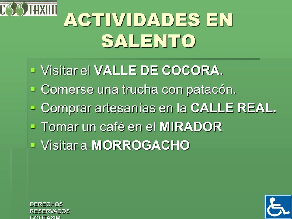 ACTIVIDADES EN SALENTO