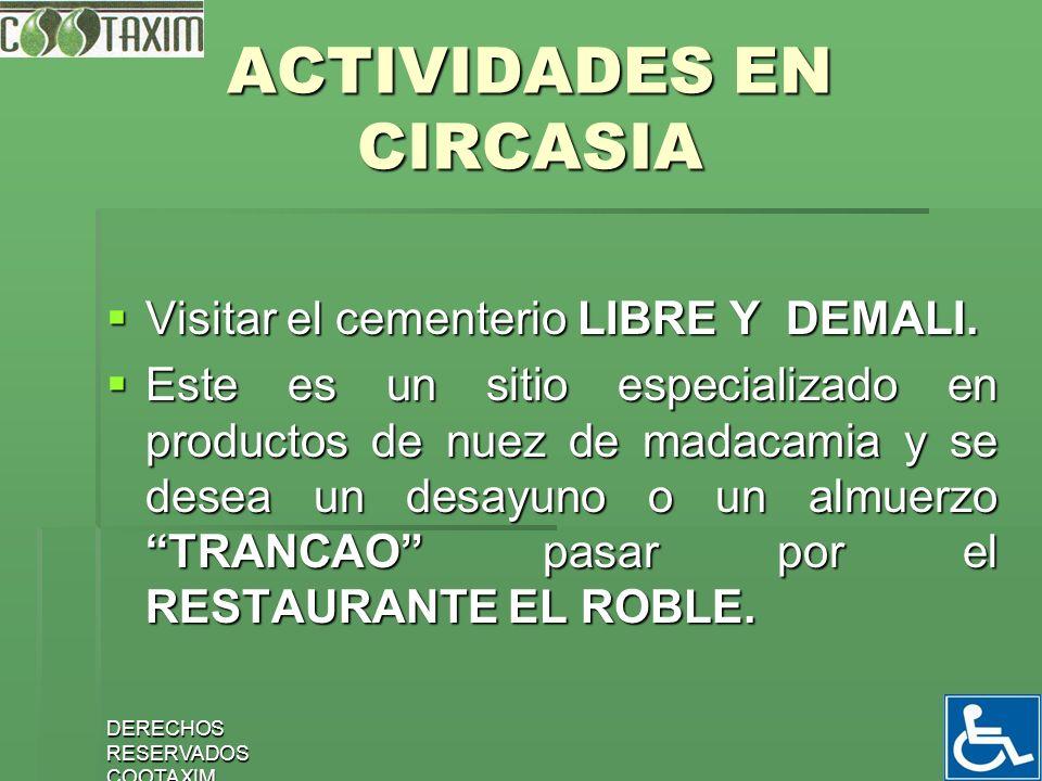 ACTIVIDADES EN CIRCASIA