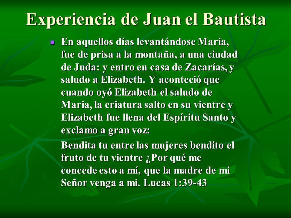 Experiencia de Juan el Bautista