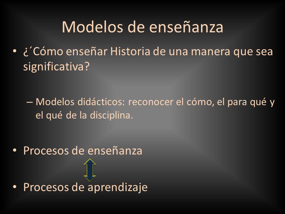 Modelos de enseñanza ¿´Cómo enseñar Historia de una manera que sea significativa