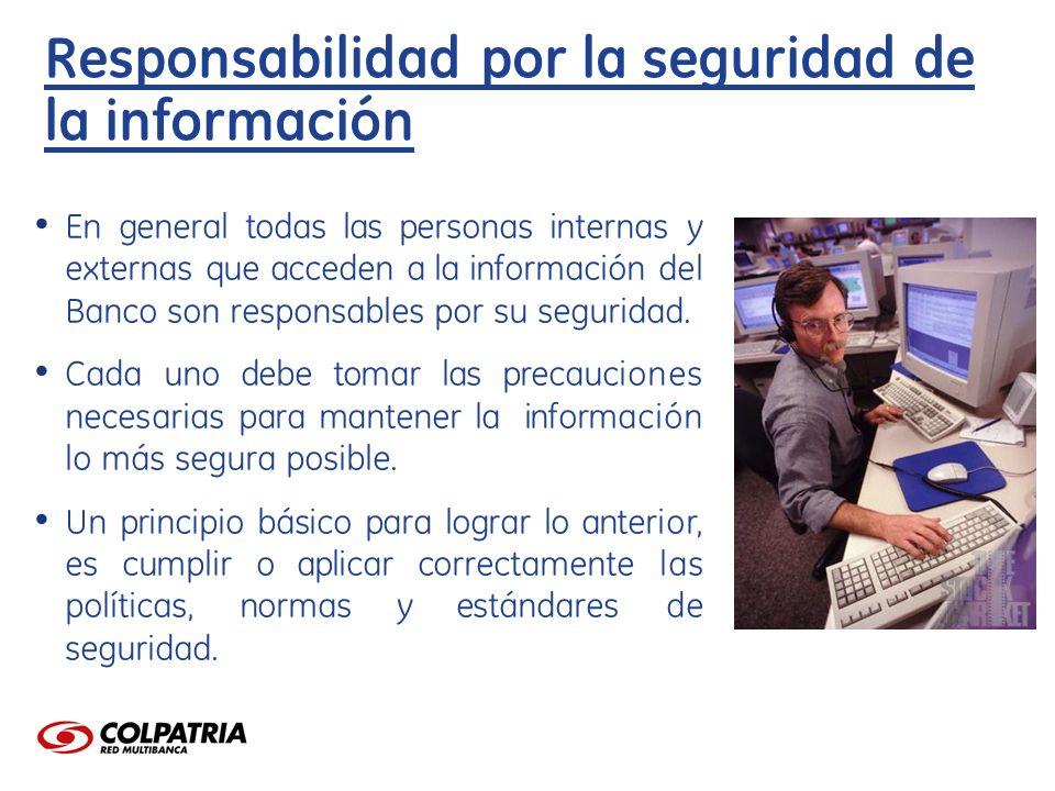 Responsabilidad por la seguridad de la información