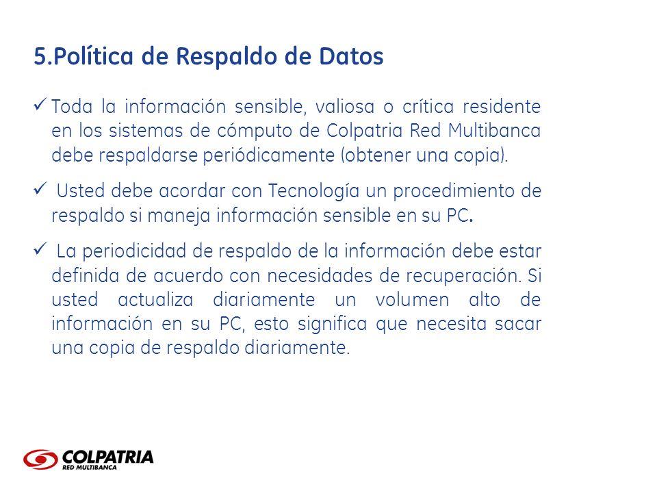 Política de Respaldo de Datos