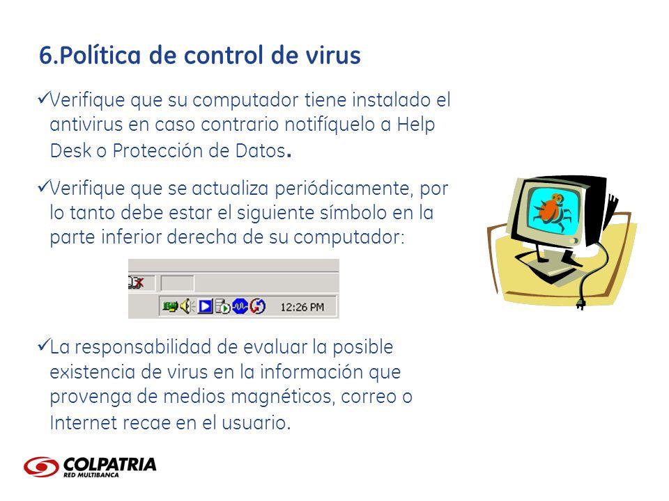 Política de control de virus