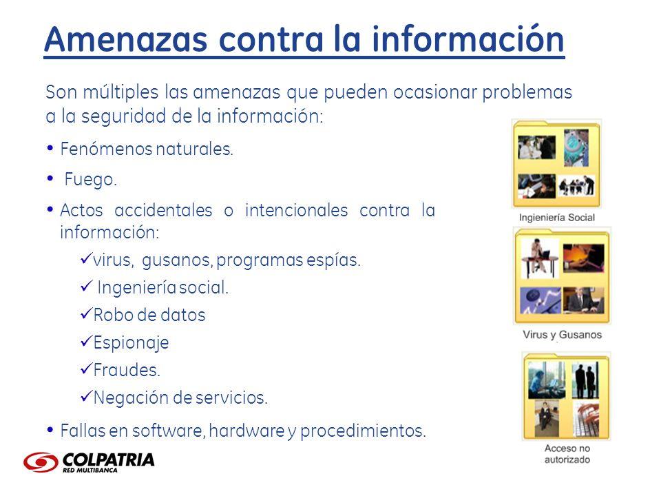 Amenazas contra la información