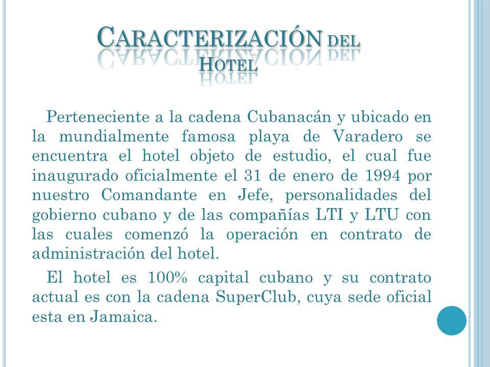 Caracterización del Hotel