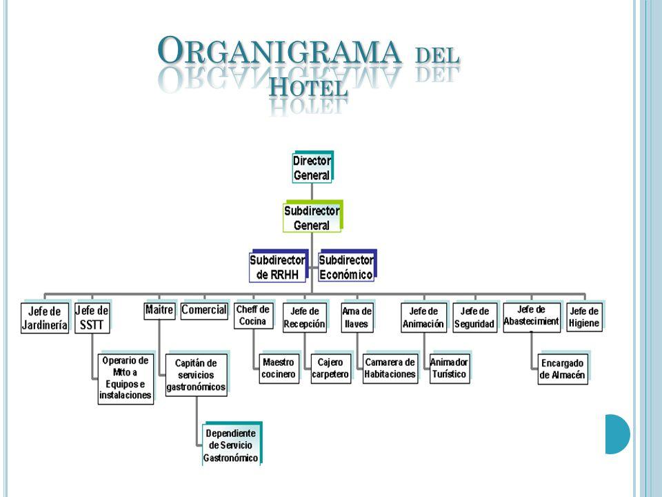 Organigrama del Hotel