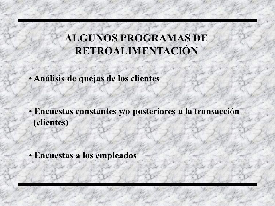 ALGUNOS PROGRAMAS DE RETROALIMENTACIÓN