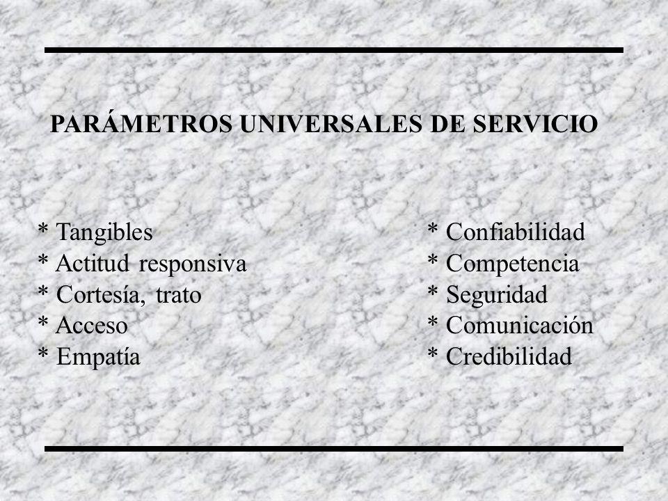 PARÁMETROS UNIVERSALES DE SERVICIO