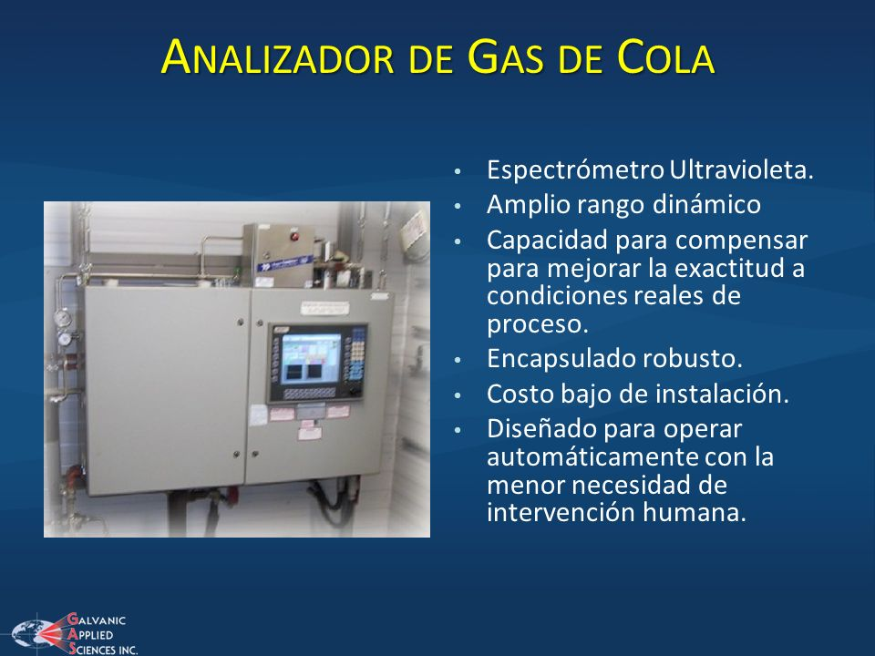Analizador de Gas de Cola