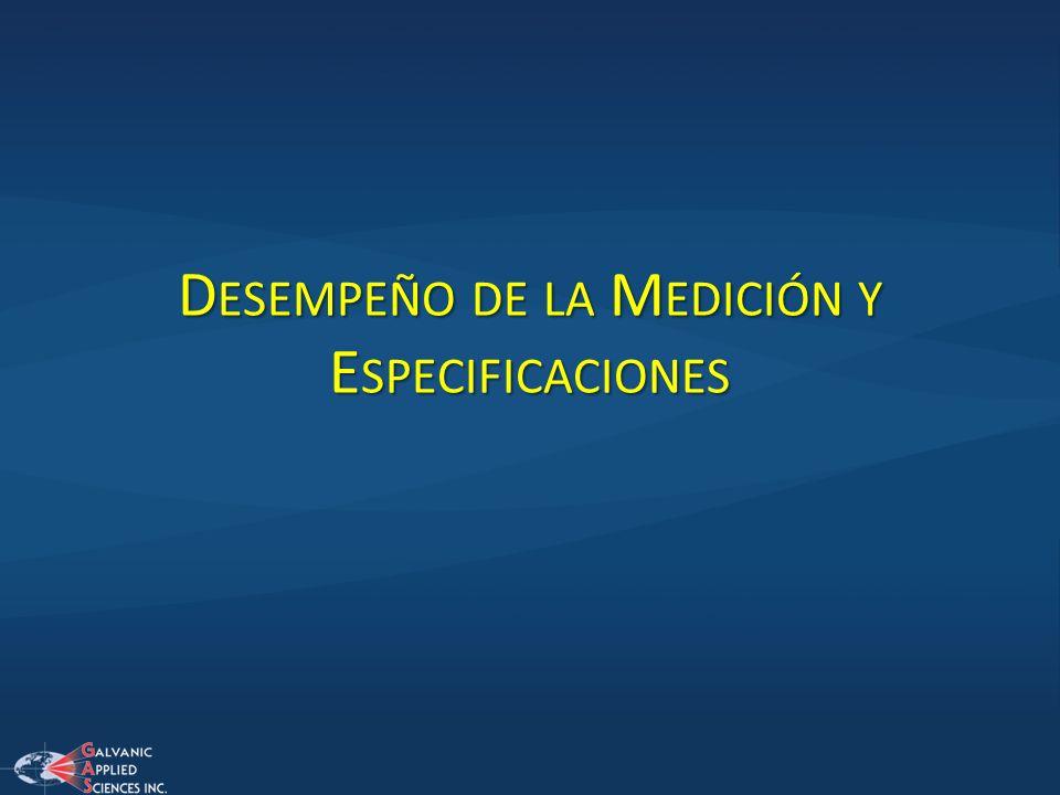 Desempeño de la Medición y Especificaciones