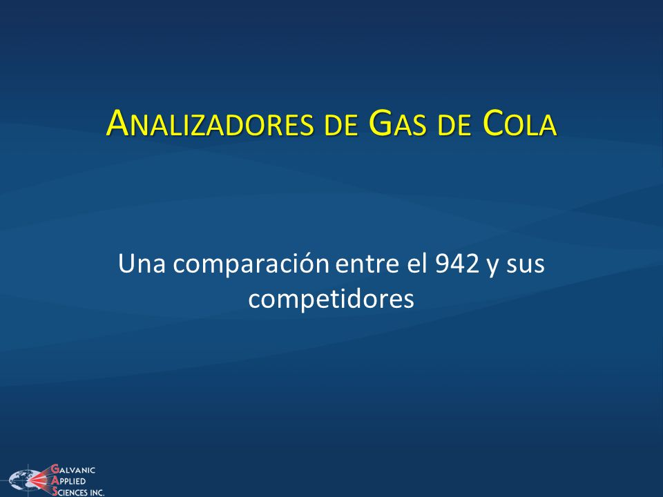 Analizadores de Gas de Cola