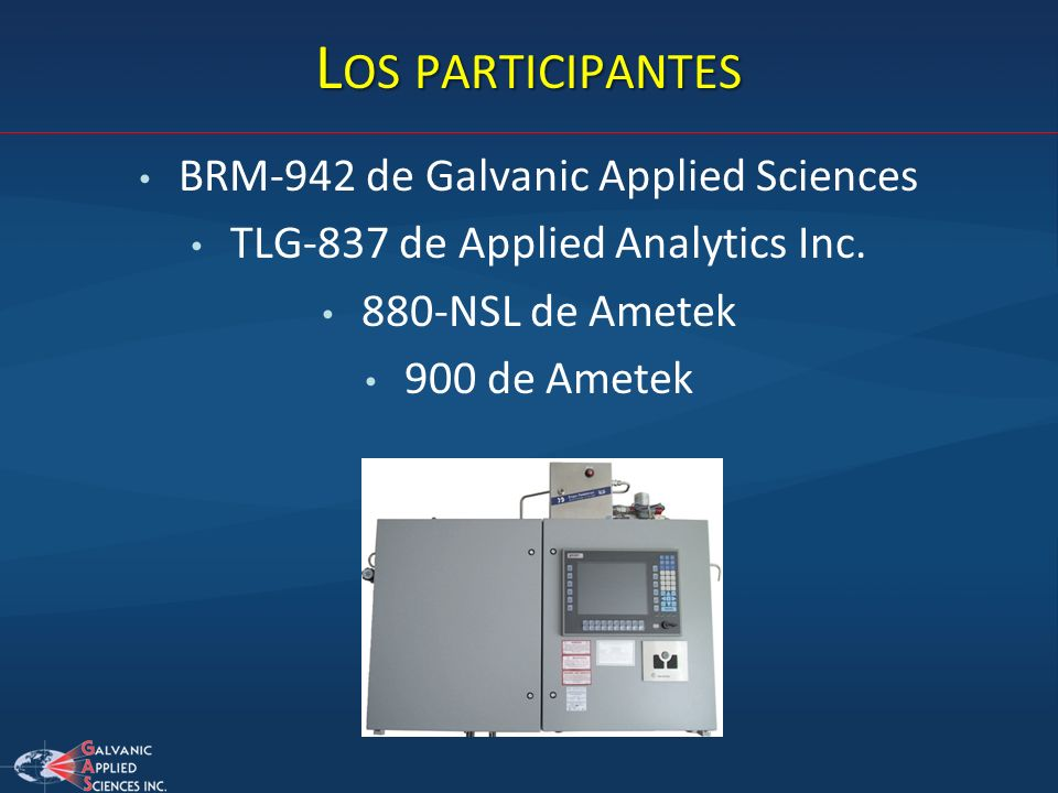 Los participantes BRM-942 de Galvanic Applied Sciences