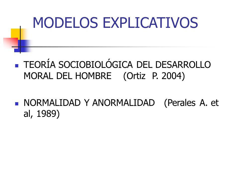 MODELOS EXPLICATIVOS TEORÍA SOCIOBIOLÓGICA DEL DESARROLLO MORAL DEL HOMBRE (Ortiz P.