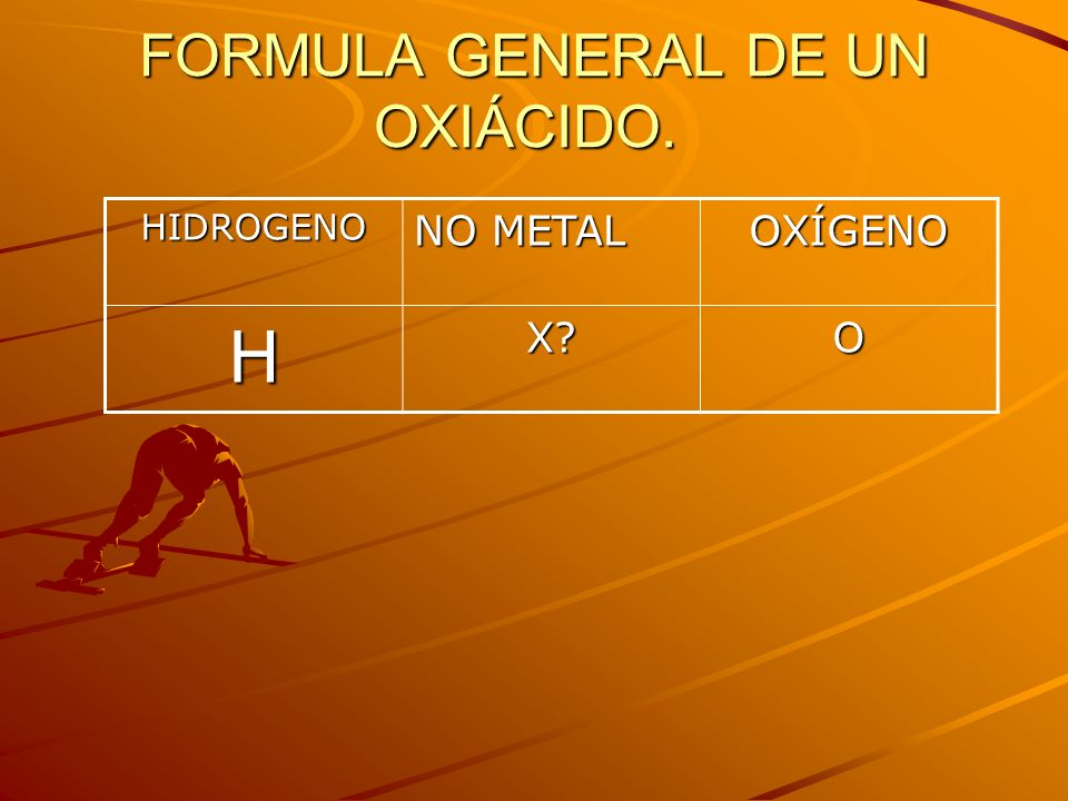 FORMULA GENERAL DE UN OXIÁCIDO.