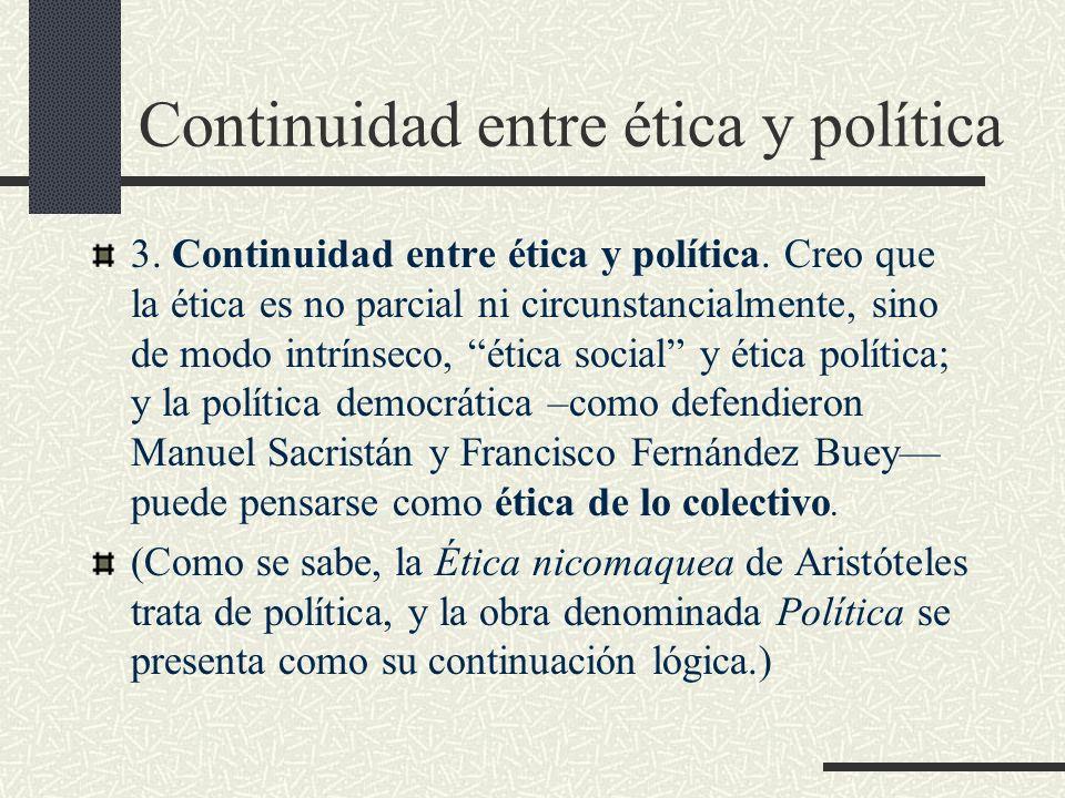 Continuidad entre ética y política