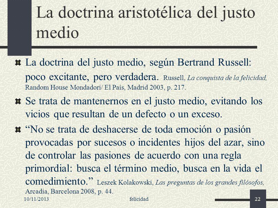 La doctrina aristotélica del justo medio