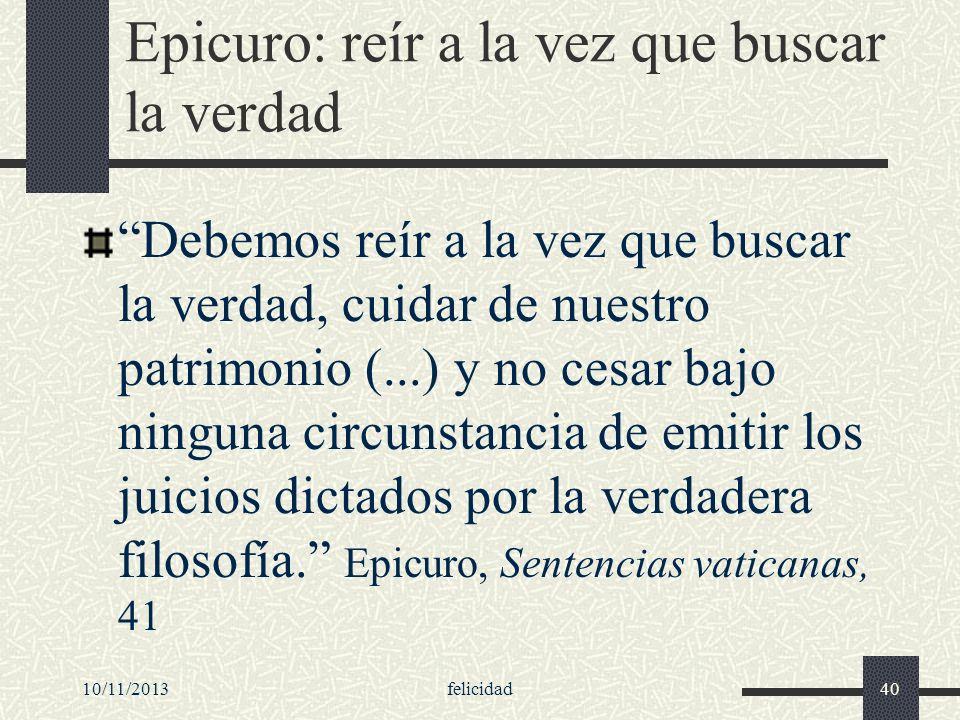 Epicuro: reír a la vez que buscar la verdad
