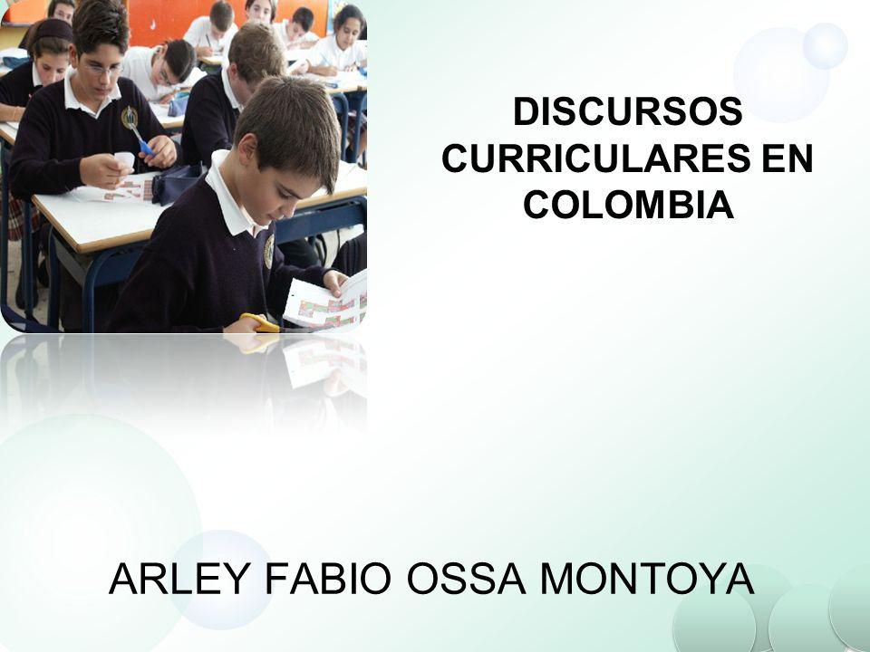 DISCURSOS CURRICULARES EN COLOMBIA