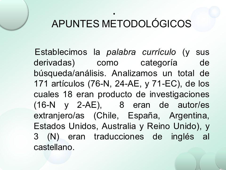 APUNTES METODOLÓGICOS