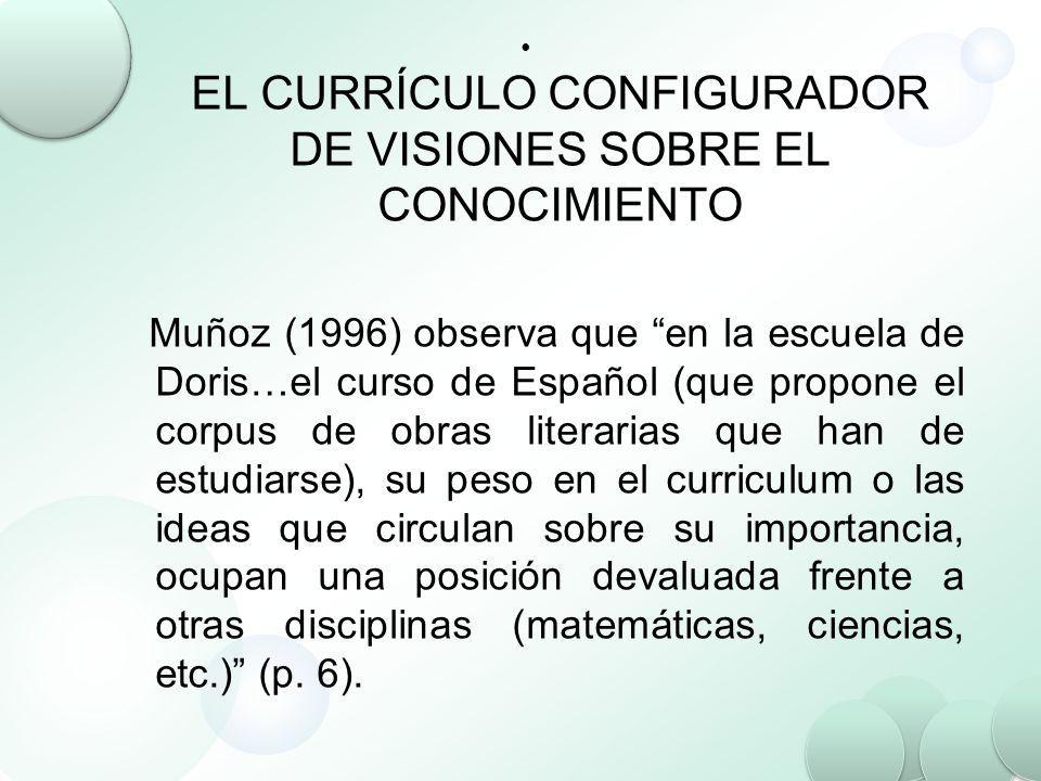 EL CURRÍCULO CONFIGURADOR DE VISIONES SOBRE EL CONOCIMIENTO